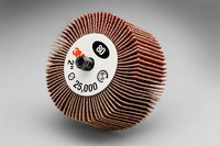 3M 244D Coated Aluminum Oxide Flap Wheel - X Weight - 1 in Face Width - 2 in Diameter - 14576