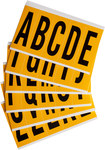 Brady 15 Series 1560-LTR KIT Black on Yellow Vinyl Letters Label Kit - Indoor / Outdoor - 1 3/4 in Width - 5 in Height - 3 7/8 in Character Height - 97128