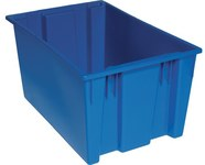Quantum Storage 3.7 ft Blue Industrial Grade Polymer Stackable Tote - 29 1/2 in Length - 19 1/2 in Width - 15 in Height - 03933