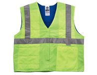Ergodyne Chill-Its 6675 Yellow Large/XL Polymer Cooling Vest - Soak in Cold Water - 1 Pockets - Fits 44 to 52 in Chest - 720476-12555