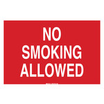 Brady B-120 Fiberglass Reinforced Polyester Rectangle Red No Smoking Sign - 20 in Width x 14 in Height - 72049