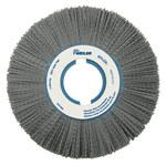 Weiler Silicon Carbide Wheel Brush 0.04 in Bristle Diameter 80 Grit - Arbor Attachment - 8 in Outside Diameter - 2 in Center Hole Size - 83180