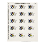Brady 59255 Blue / Red / Yellow on White Vinyl Laser Printable Label - 2 in Width - 2 in Height - B-745