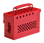 Brady Red Metal Group Lockout Box 73289 - 13 Padlock Capacity - 754473-73289