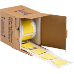 Brady Permasleeve 2HT-1500-2-YL-S-2 Yellow Polyolefin Die-Cut Thermal Transfer Printer Sleeve - 2 in Width - 2.433 in Height - 0.5 in Min Wire Dia to 1.45 in Max Wire Dia - Double-Side Printable - B-3