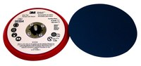 3M Stikit 20354 Hard Red PSA Disc Pad - 6 in Diameter - 3/8 in Thick - 5/16-24 External Thread Attachment