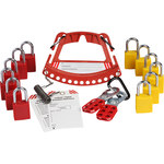 Brady 148864 Red/Yellow Safety Lock and Tag Carrier - LOTO-88