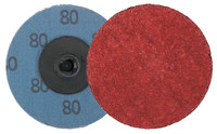 Weiler Saber Tooth Coated Ceramic Quick Change Disc - Cloth Backing - 80 Grit - Medium - 2 in Diameter - 60152