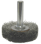 Weiler Steel Radial Bristle Brush - 1 1/2 in Outside Diameter - 0.006 in Bristle Diameter - 17950
