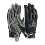 PIP Maximum Safety 120-4900 Black/Gray Large Nylon/Polyurethane/Spandex/Synthetic Leather Mechanic's Gloves - PVC/Silicone/Thermoplastic Rubber Dotted Both Sides Coating - 120-4900/L