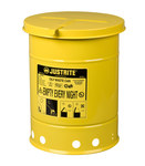 Justrite Yellow Steel 6 gal Safety Can - 15 7/8 in Height - 11 7/8 in Overall Diameter - 697841-00224