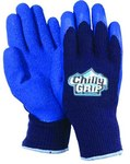 Red Steer Chilly Grip A311 Blue/Navy Large Acrylic Work Gloves - Rubber Foam Coating - Rough Finish - A311-L