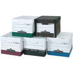 Shipping Supply R-Kive White File Storage Boxes - 15 in x 12 in x 10 in - SHP-2335