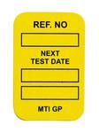 Brady Microtag MIC-MTIGP Y Yellow Vinyl Micro Tag Insert - 1 1/4 in Width - 1 7/8 in Height - 14296