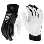 West Chester Extreme Work IndestruX 89304 Black/Gray/White Large Goatskin Leather/Spandex Work Gloves - Keystone Thumb - 9.25 in Length - 89304/L