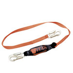 Miller Titan T6113 Yellow Shock-Absorbing Lanyard - 6 ft Length - 612230-08880