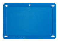 Brady 41927 Blue Rectangle Plastic Blank Valve Tag - 4 in Width - 2 1/2 in Height - B-418