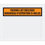 Shipping Supply Tape Logic Orange Bilingual Envelopes - 4 1/2 in x 5 1/2 in - 2 mil Thick - SHP-12722