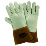 West Chester 6010 Off-White Large Grain, Split Cowhide Leather Welding Glove - Wing Thumb - 12 in Length - 6010/L