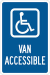 Brady B-555 Aluminum Rectangle Blue Disabled Parking & Building Access Sign - 12 in Width x 18 in Height - 123869