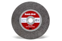 3M Scotch-Brite Unitized Aluminum Oxide Deburring Wheel - Coarse Grade - 4 in Diameter - 0.375 in Center Hole - 0.10629 in Thickness - 13224