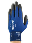 Ansell HyFlex Fortix 11-816 Blue/Black 9 Nylon/Spandex Work Gloves - Nitrile Foam Palm & Fingers Coating - 830979