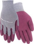 Red Steer Flowertouch A305 Red Large Cotton/Polyester Work Gloves - Rubber Palm Only Coating - Rough Finish - A305-L