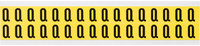 Brady 34 Series 3420-Q Black on Yellow Vinyl Cloth Letter Label - Indoor - 9/16 in Width - 3/4 in Height - 5/8 in Character Height - B-498