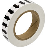 Brady 91413 Black on White Directional Flow Arrow Tape - 1 in Width - 30 yd Length - B-946