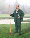Dunlop Sitex 76600 Green Large Polyester/PVC Rain Suit - 2 Pockets - Fits 54 in Chest - 30 in Inseam - 791079-14178