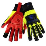 West Chester R2 Safety Rigger 87810 Yellow/Red 3XL Synthetic Leather/TPR Work Gloves - Silicone Palm Coating - 11 in Length - 87810/3XL