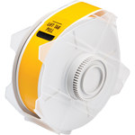 Brady 76621 Yellow Polyester Continuous Thermal Transfer Printer Label Roll - Indoor / Outdoor - 1.125 in Width - 100 ft Length - B-569