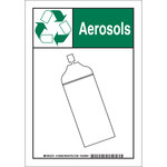 Brady B-555 Aluminum Rectangle White Environment Sign - 7 in Width x 10 in Height - 129387