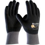 PIP MaxiFlex Ultimate 34-876 Black/Gray 2X-Small Lycra/Nylon Work Gloves - EN 388 1 Cut Resistance - Nitrile Full Coverage Coating - 7.7 in Length - 34-876/XXS