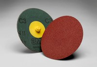 3M Cubitron II 982C Ceramic Brown Quick Change Fibre Disc - Fibre Backing - 80+ Grit - 2 in Diameter - 66788