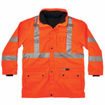 Ergodyne Glowear 8385 High-Visibility Orange Large Cold Condition Jacket - Inset Hood - Fits 38 to 42 in Chest - Thinsulate Insulation - 720476-24374