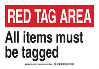 Brady B-302 Polyester Rectangle White Designated Tag Area Sign - 7 in Width x 10 in Height - Laminated - 122272