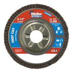 Weiler Vortec Pro Non-Woven Type 29 Zirconium Flap Disc - 80 Grit - Medium - 4 1/2 in Diameter - 7/8 in Center Hole - 31310