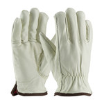 PIP 77-268 Natural Large Grain Cowhide Leather Driver's Gloves - Keystone Thumb - 10 in Length - 77-268/L