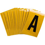 Brady Bradylite 5920-A Black on Yellow Letter Label - Outdoor - 1 in Width - 1 1/2 in Height - 1 in Character Height - B-997