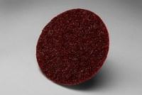 3M Scotch-Brite SC-DP Non-Woven Aluminum Oxide Maroon Surface Conditioning Quick Change Disc - Medium - 2 in Diameter - 13238