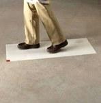 3M Clean-Walk 5836 White Mat Floor Mat - 36 in Width x 46 in Length - 95742