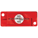 Red 15G Drop-N-Tell Indicators - 7/8 in x 2 in x 1/4 in - SHP-8347