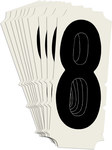 Brady Quik-Align 6450-8 Black Vinyl Number Label - Outdoor - 2 in Height - 2 in Character Height - B-933