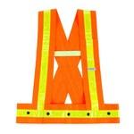 Ergodyne Glowear 8140HG High-Visibility Orange Medium/Large Oxford Polyester High-Visibility Vest - 1 Pockets - 720476-20424