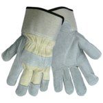 Global Glove 2300WC Gray Large Split Leather Work Gloves - 2300WC/LG