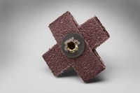3M 341D A/O Aluminum Oxide AO Cross Pad 80 Grit - 1 in Width x 1 in Length - 3/8 in Pad Thickness - Maroon - 27369