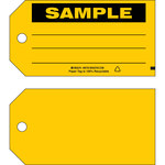 Brady 86759 Black on Yellow Cardstock Production Status Tag - 5 3/4 in Width - 3 in Height - B-853