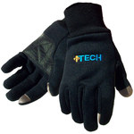 Impacto ITECH Black Large Fleece Work Gloves - Polyurethane Palm Only Coating - ITECH40