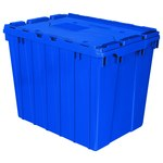 Akro-Mils Keepbox 17 gal 100 lb Blue Industrial Grade Polymer Attached Lid Container - 21 1/2 in Length - 15 in Width - 17 in Height - 39170 BLUE